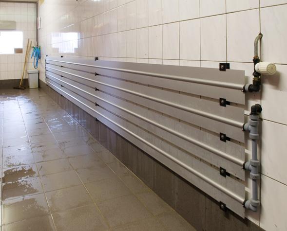 aluminium vlakke verwarmingsprofielen tbv van vochtige ruimtes